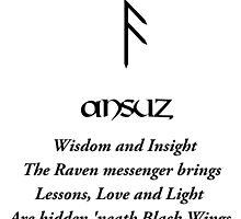 Ansuz Rune by visionaerium