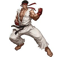 Ryu fight - Street Fighter Photographic Print