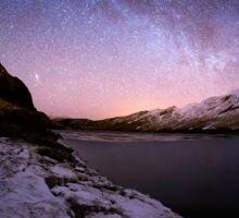 Milky Way in the Scottish Highlands  Sticker