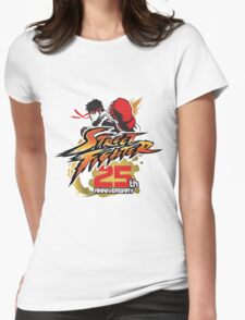 Street Fighter 25th anniversary Womens Fitted T-Shirt