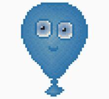 Balloon Pixel Smile - White Background Kids Clothes
