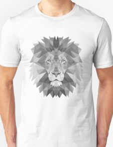 Geometric Lion in B&W T-Shirt
