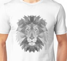 Geometric Lion in B&W Unisex T-Shirt