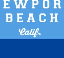 Newport Beach - California. Sticker