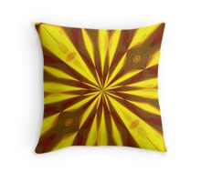 Bold Red, Green and Gold Repeating Starburst Throw Pillow
