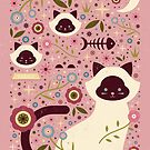 Siamese Cats by CarlyWatts