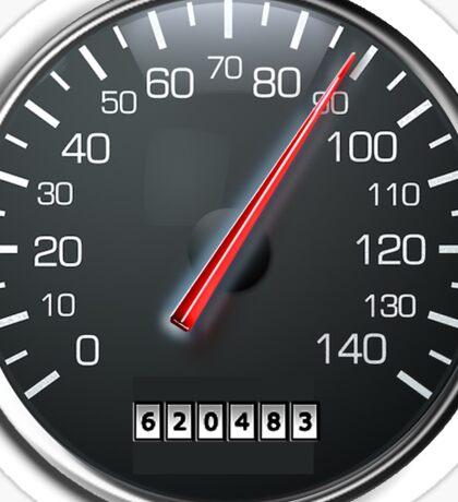 MOTORSPORT, SPEEDO, Speedometer, Speed meter, Race, Racing Cars, WHITE Sticker