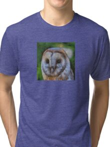 Tawny Owl In The Style of Camille Tri-blend T-Shirt