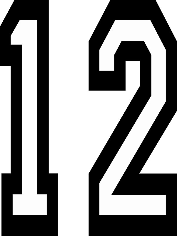 Quot 12 Team Sports Number 12 Twelve Twelfth Competition