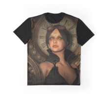 Steampunk Time Keeper Graphic T-Shirt