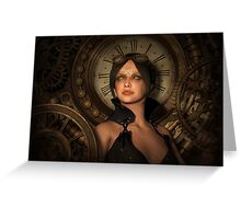 Steampunk Time Keeper Greeting Card