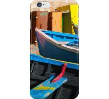Vintage fishing boats in Essaouira, Morocco iPhone Case/Skin