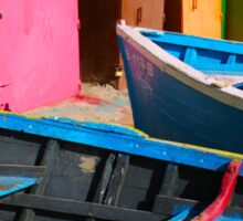 Vintage fishing boats in Essaouira, Morocco Sticker