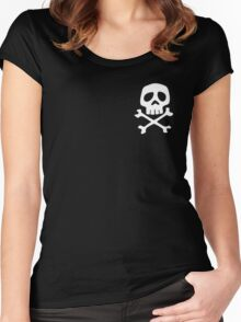 HARLOCK SYMBOL WHITE ON BLACK Women's Fitted Scoop T-Shirt