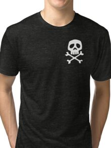 HARLOCK SYMBOL WHITE ON BLACK Tri-blend T-Shirt