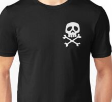 HARLOCK SYMBOL WHITE ON BLACK Unisex T-Shirt