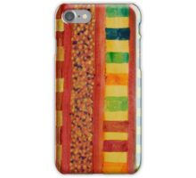 Glamorous Beach Cabins under Squared Sky  iPhone Case/Skin