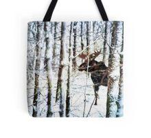 Painted Moose Tote Bag