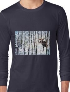 Painted Moose Long Sleeve T-Shirt
