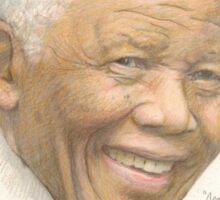 Nelson Mandela - appearances matter and remember to smile Sticker