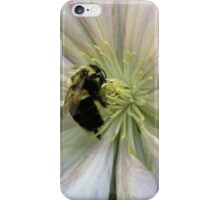 Bumble Bee On Clematis Flower iPhone Case/Skin