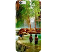 Wading in Paradise iPhone Case/Skin