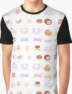 Pastel Set 3 - Sweets and cats Graphic T-Shirt