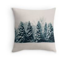 Winter and Woods Throw Pillow