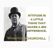 Attitude Is A Little Thing - Churchill Kids Tee