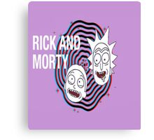 Psychadelic Rick and Morty Canvas Print