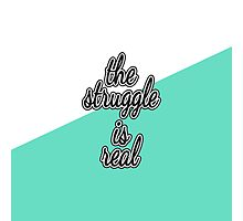 """""""The Struggle is Real."""" Color Block Photographic Print"""