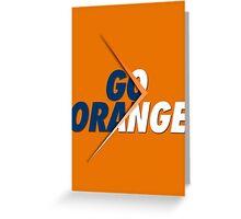 GO ORANGE - V2 Greeting Card