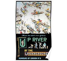 TUBE, London, Underground, 1913, Up River by the Underground,Poster, by Tony Sarg Poster