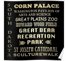 South Dakota Famous Landmarks Poster