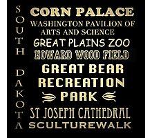 South Dakota Famous Landmarks Photographic Print