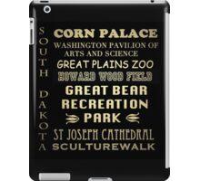 South Dakota Famous Landmarks iPad Case/Skin