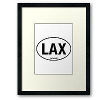 LAX - EURO STICKER Framed Print