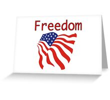 Freedom Red, White and Blue Flag Greeting Card