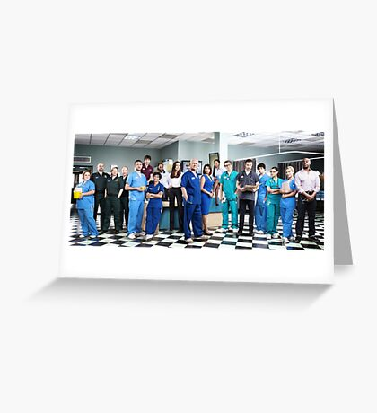 Casualty Cast 2014  Greeting Card