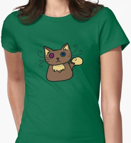 Cacot Cat Womens Fitted T-Shirt