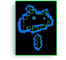 Neon Invader Canvas Print