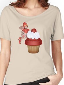 Strawberry, Cupcake Fairy  Women's Relaxed Fit T-Shirt