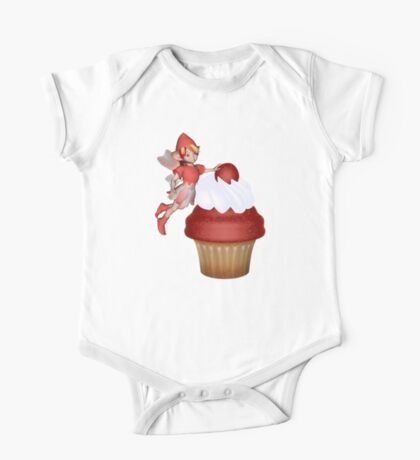 Strawberry, Cupcake Fairy  One Piece - Short Sleeve