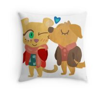John & Mary Throw Pillow