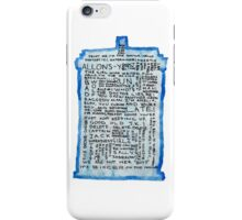 TARDIS Quotes - Doctor Who iPhone Case/Skin
