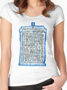 TARDIS Quotes - Doctor Who Women's Fitted Scoop T-Shirt