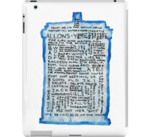 TARDIS Quotes - Doctor Who iPad Case/Skin