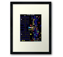 Pac-Man Glitch Level Framed Print