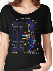Pac-Man Glitch Level Women's Relaxed Fit T-Shirt