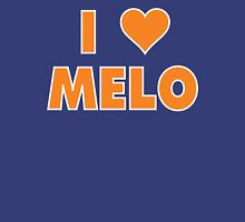 I LOVE MELO Carmelo Anthony New York Knicks Basketball heart Womens Fitted T-Shirt